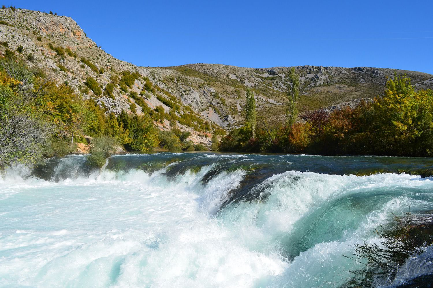 Ogar Waterfall Kayaking Zrmanja River, Croatia