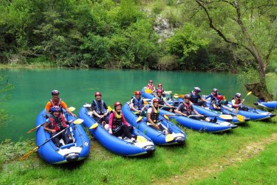 kayaking group croatia