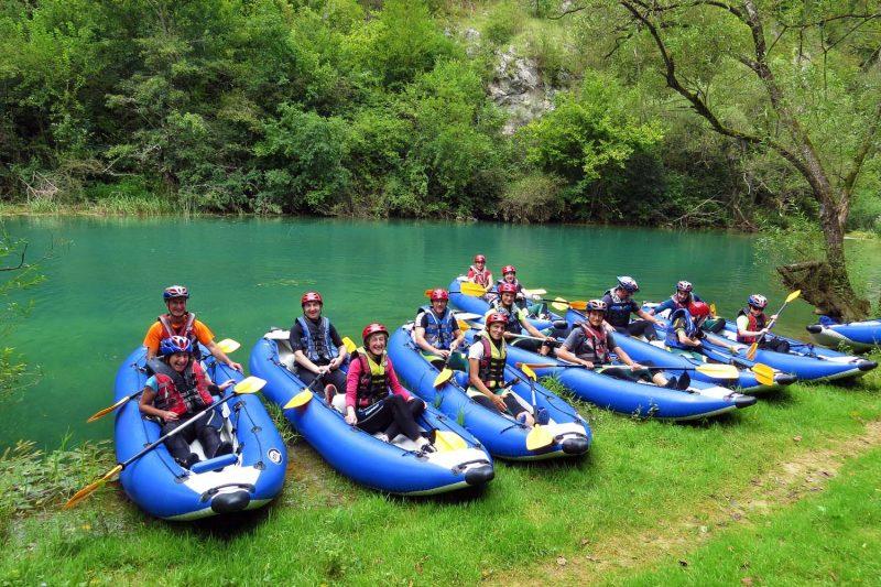 kayaking group croatia