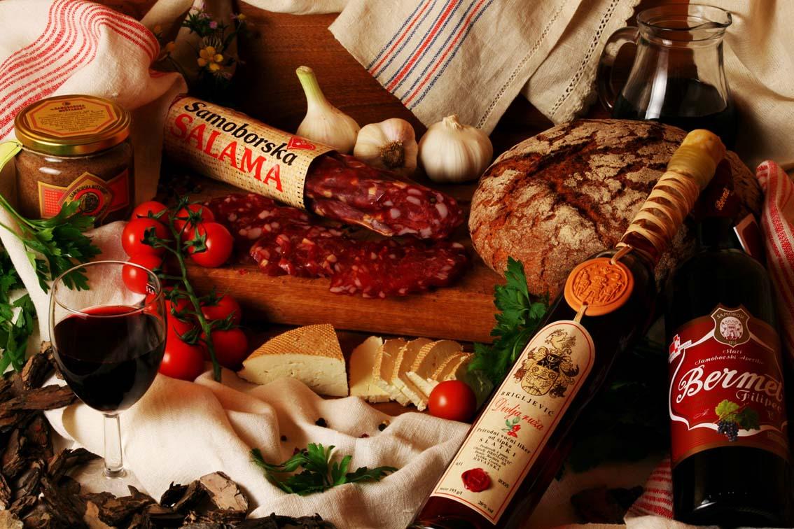 Specialties on Plesivica Wine Road Cycling Trip, Croatia