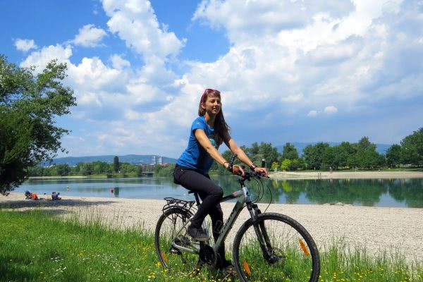 Cycling by the Lake in Zagreb