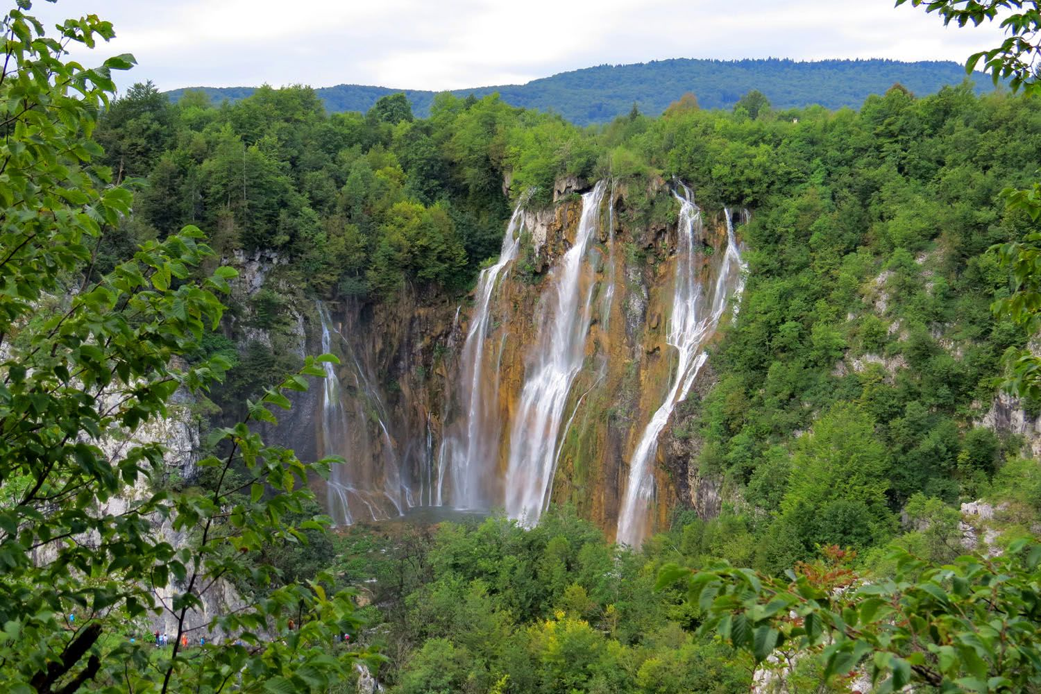 Big waterfall at Plitvice Lakes National Park, Croatia adventure tours