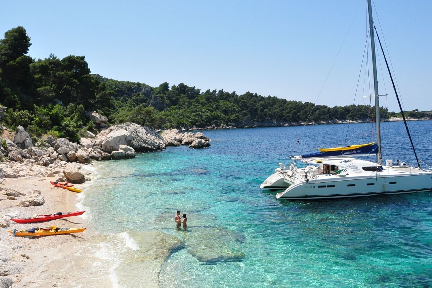 Adventure Sailing Trip Dubrovnik Croatia, sea kayaking & swimming