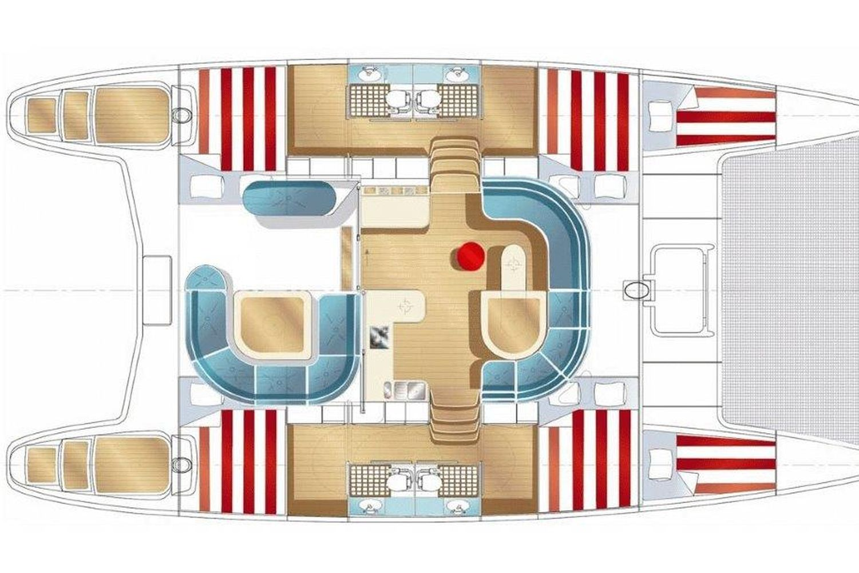 Adventure Sailing Trip Croatia, catamaran layout