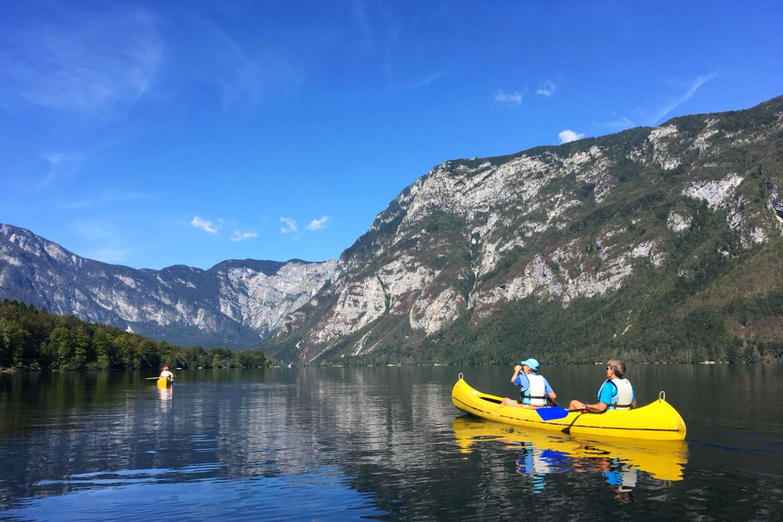 Slovenia Multisport Adventure, Kayaking Canoeing Lake Bohinj