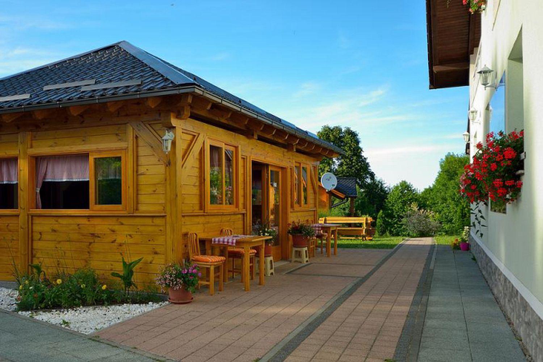 Guesthouse courtyard, Plitvice Lakes, Croatia
