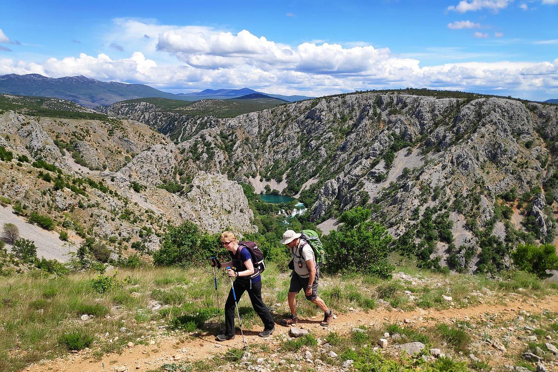 Hiking in Krupa River Canyon, Croatia